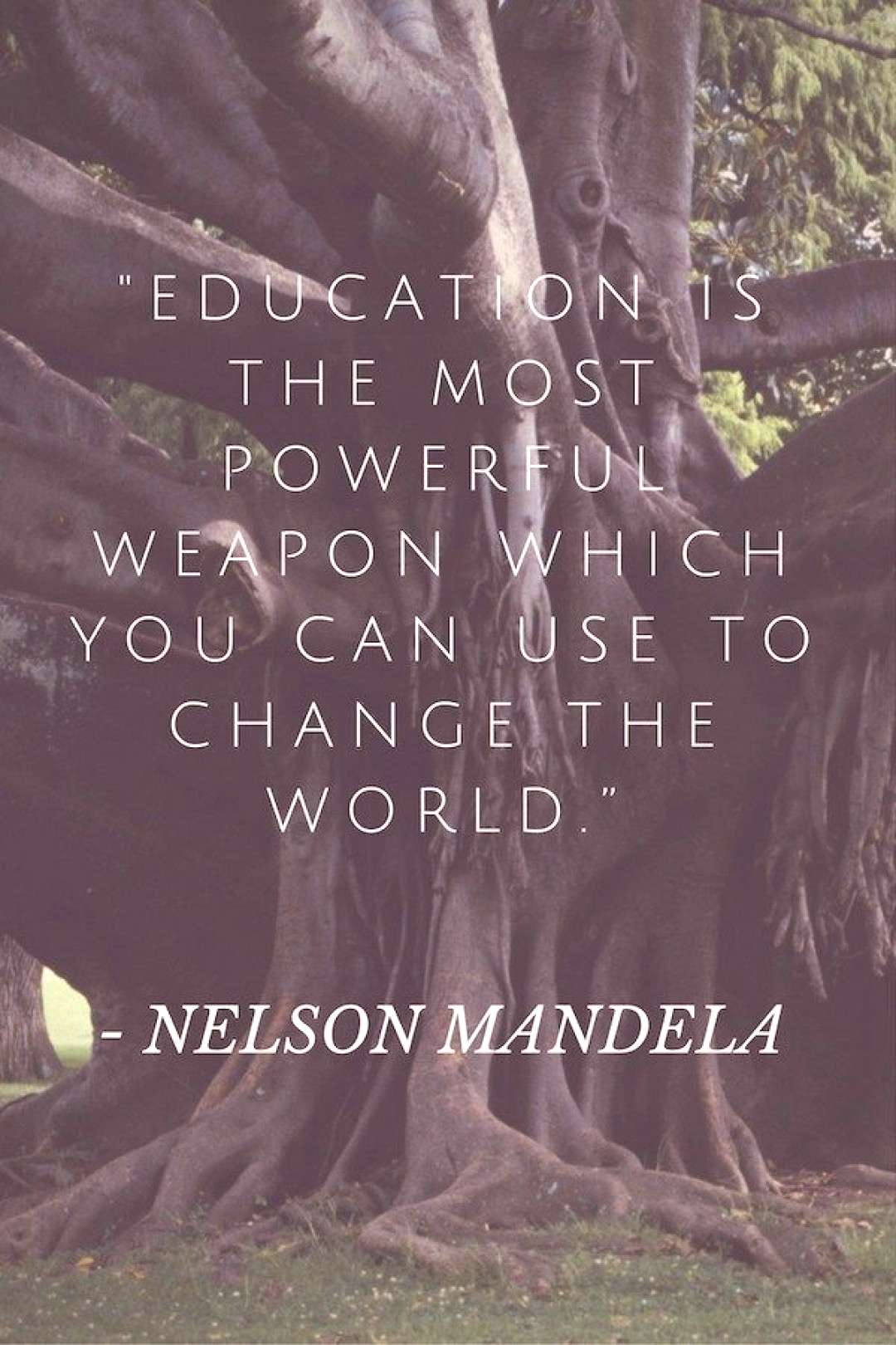 Quotes from Nelson Mandela- great for kids to learn from his wisdom about love, education, and acce