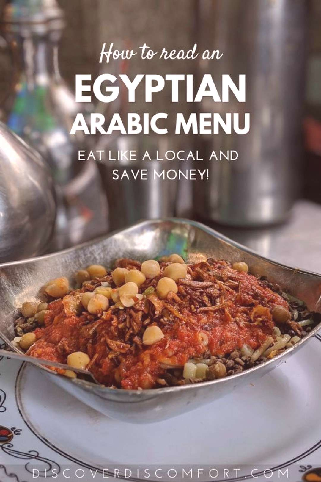 Reading a Local Egyptian Arabic Food Menu 80-20 style | Discover Discomfort It's really fun picki