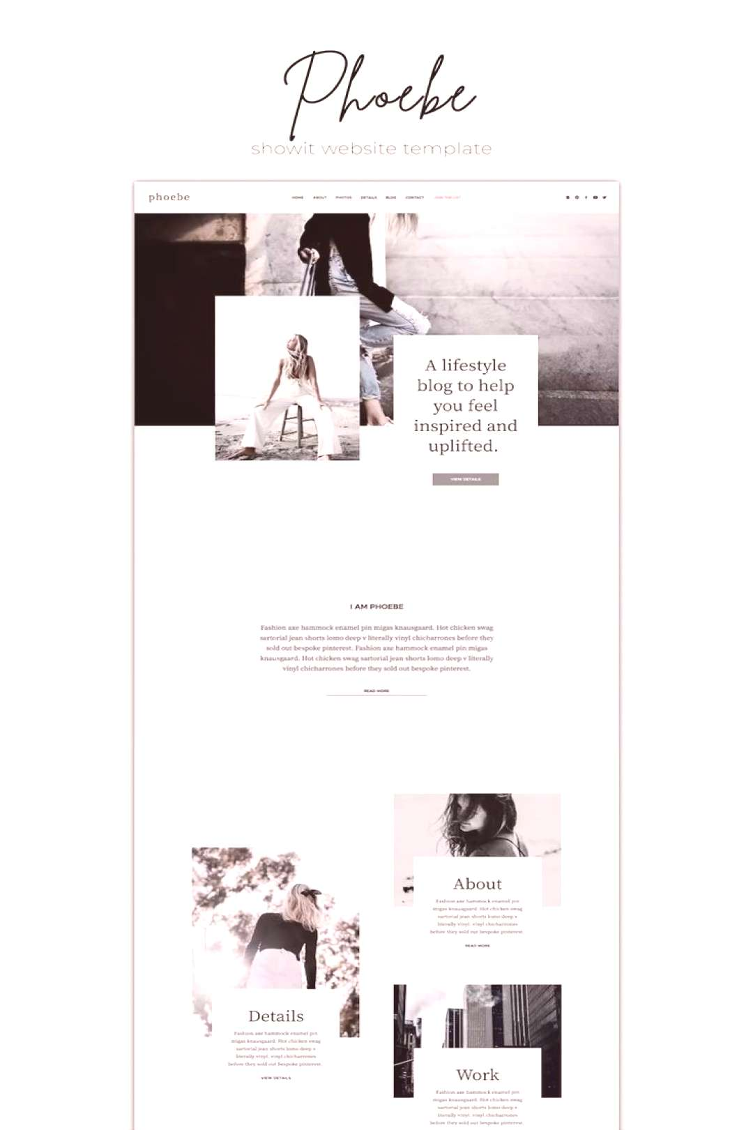 Showit Website Template Phoebe One-of-a-kind Showit Website Template for creative small business ow