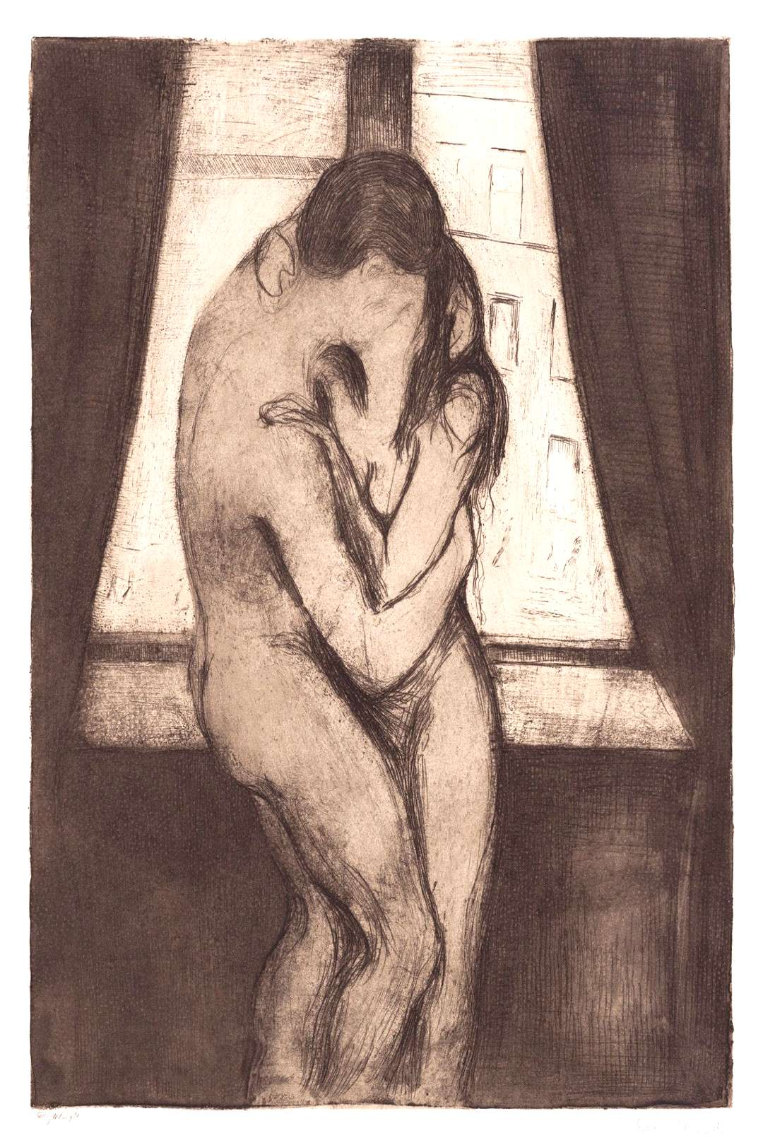 The Kiss (1895) by Edvard Munch. Original from The MET Museum. Digitally enhanced by rawpixel. | fr