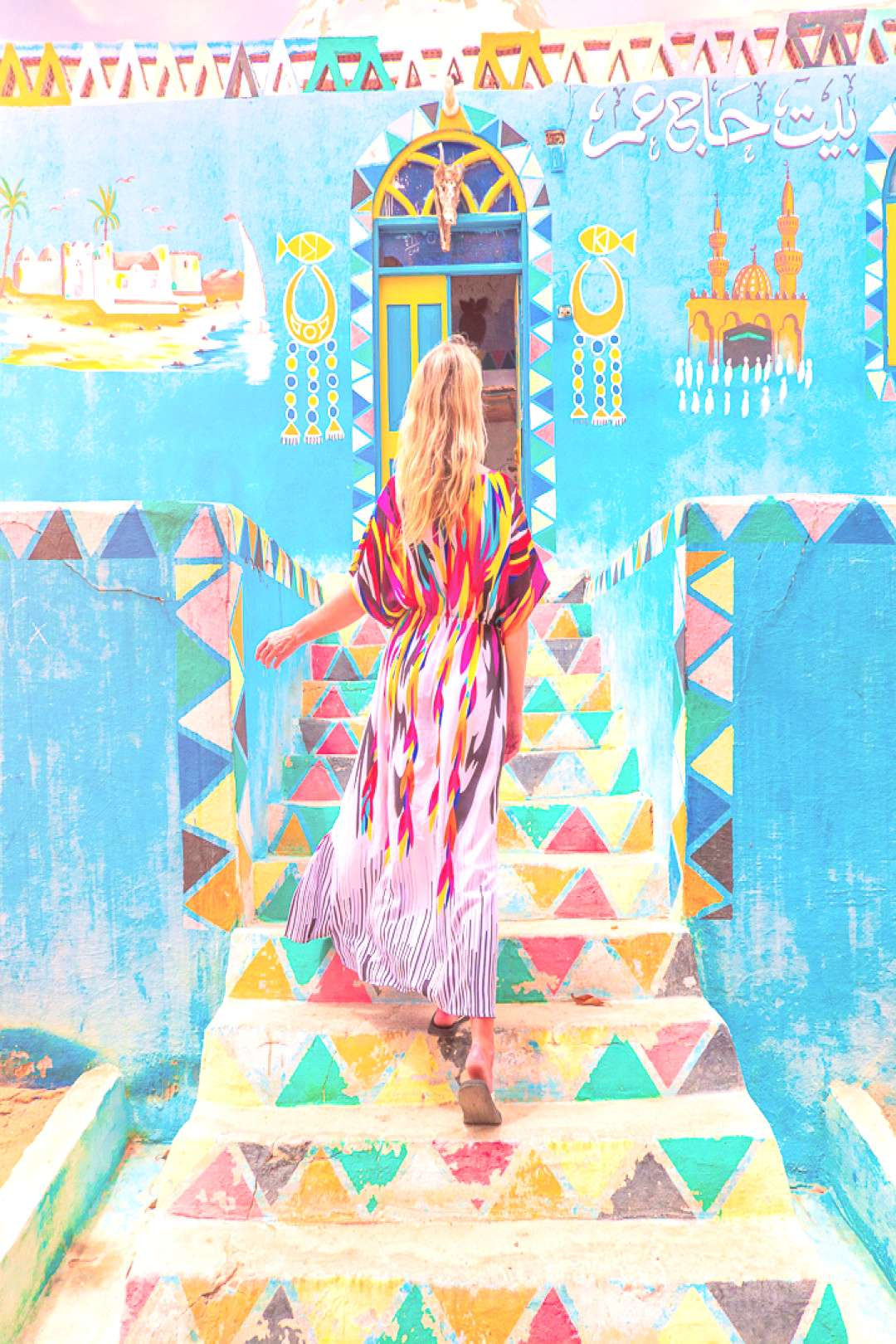 The most colorful village in Egypt!! Can you believe this is a real place?? Heres everything you n