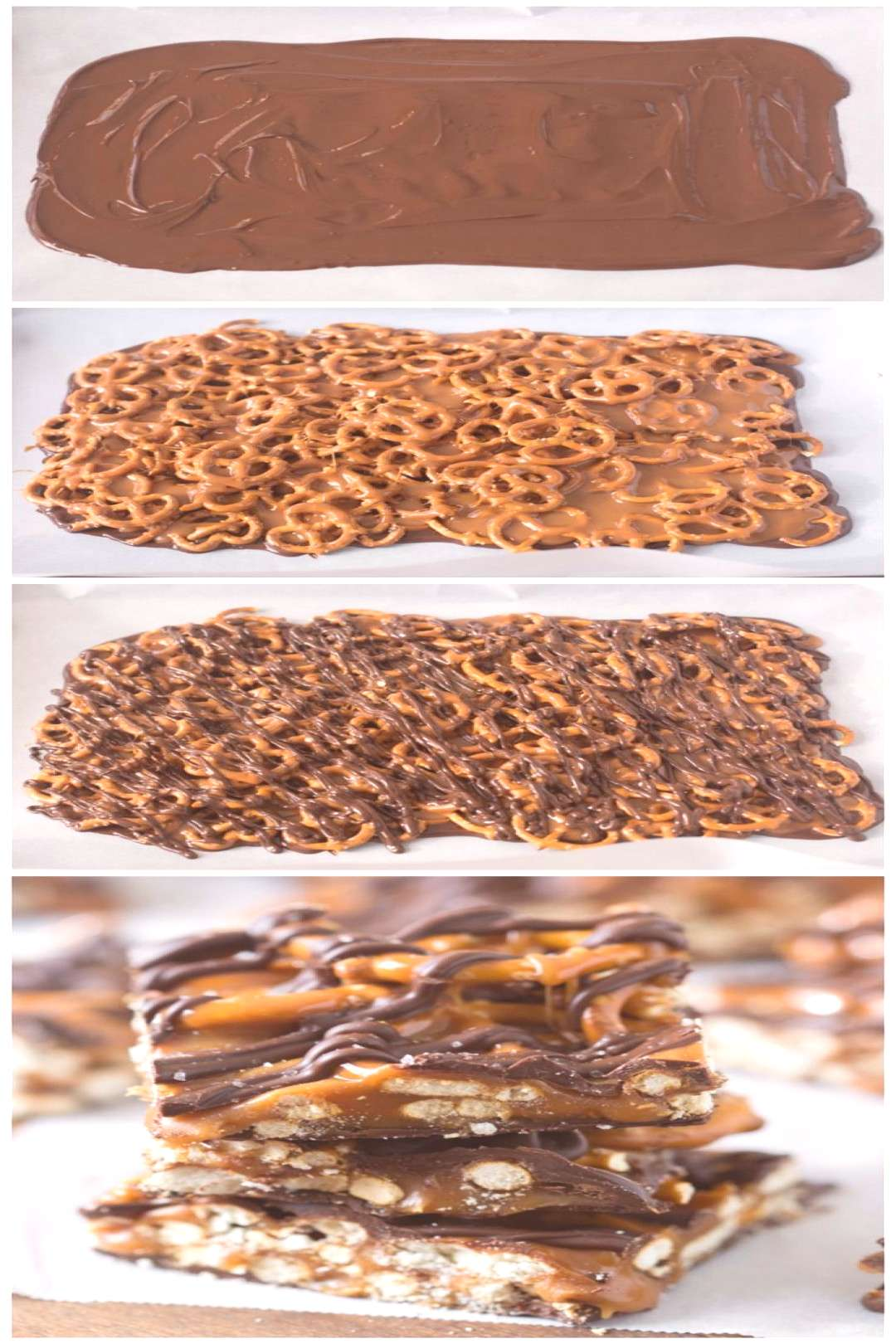These simple salted caramel pretzel bars with 4 ingredients are quickly ..., ... - food - These si