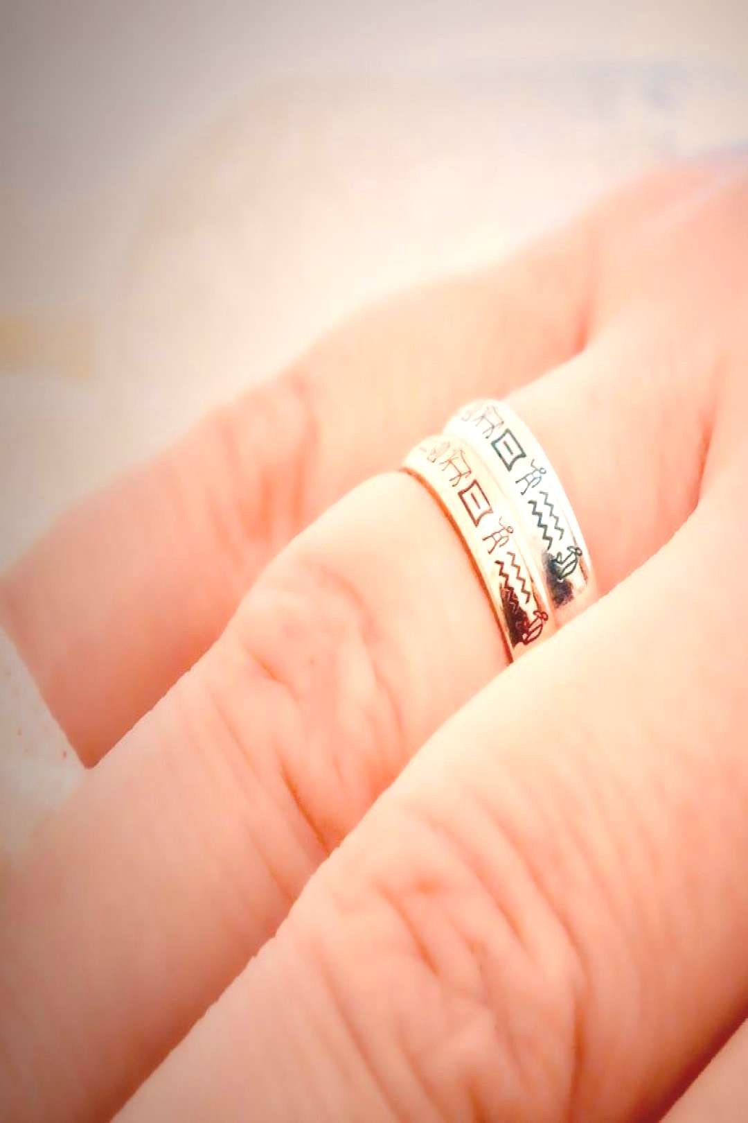 This Hieroglyph ring is 14k Solid GOLD ( not filled or plated). Personalized hieroglyph solid gold