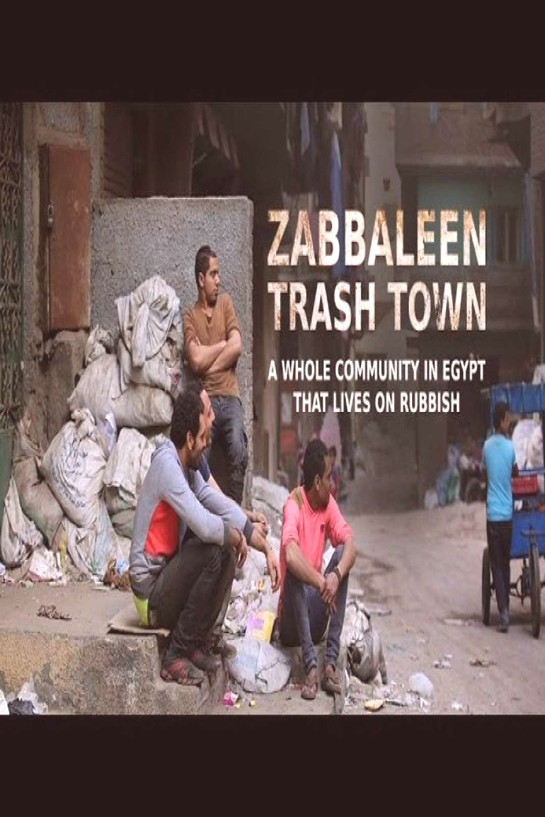 Trash Town. A whole community in Egypt that lives on rubbish Their whole town is practically a gian