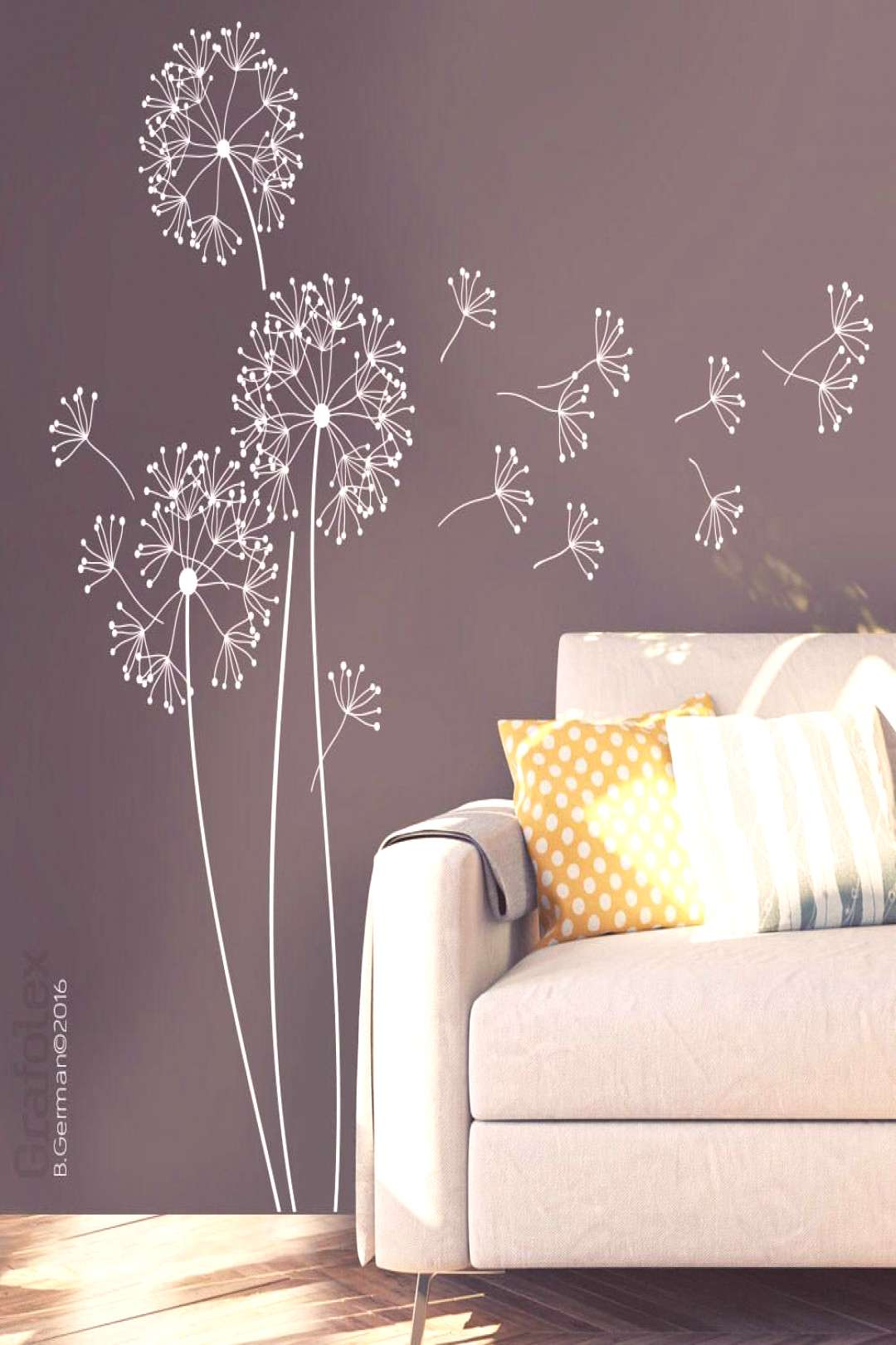 Wall Decals flower with seed, 151 cm high, dandelion wall sticker wall Sticker Home stickers Creati
